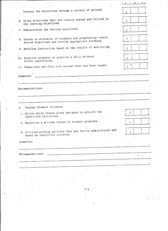 Teacher evaluations page 3